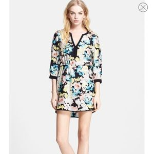 EUC Parker print silk dress, M